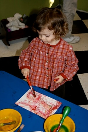 How to Make Mixed Media Notecards with Kids
