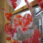 Melted Crayon Stained Glass Hearts for Valentines Day