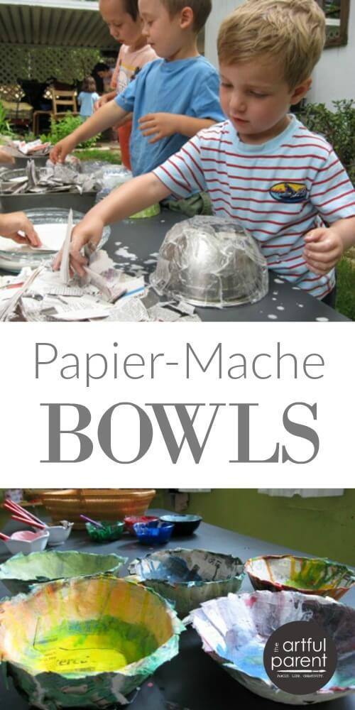 How to Make Papier Mache Bowls with Kids