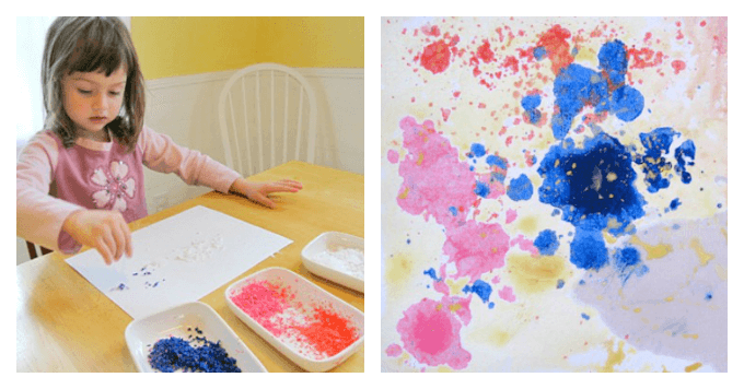 Wax Resist Painting with Kids