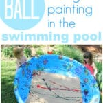 Summer Art Activity :: Swimming Pool Ball Painting