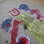 Body Tracing Art with Splatter Painting and Collage