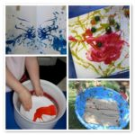Thirteen fun art activities with tempera paint