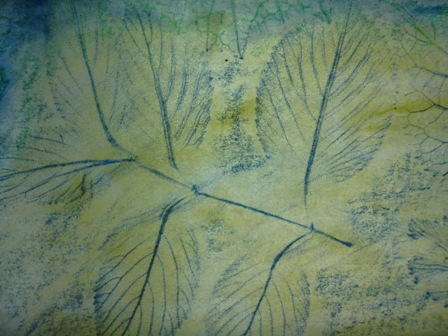 Leaf Rubbing Stained Glass