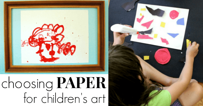 Choosing Paper for Children and Their Art Making