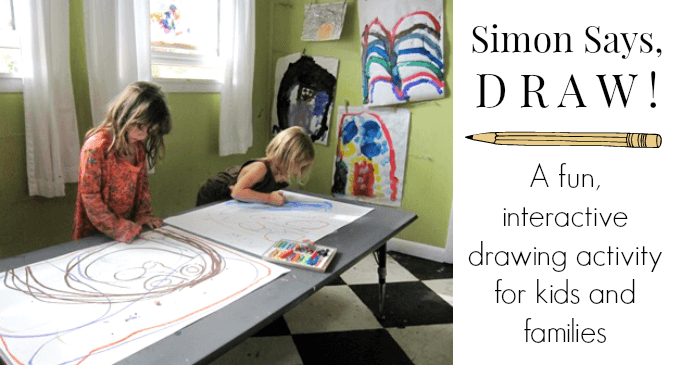 Simon Says Draw - A fun interactive drawing activity for kids and familys