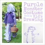 A Purple Monster Costume from Maia's Drawing