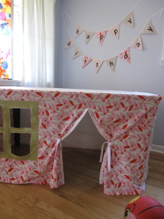 DIY Kids Playhouse under the Table