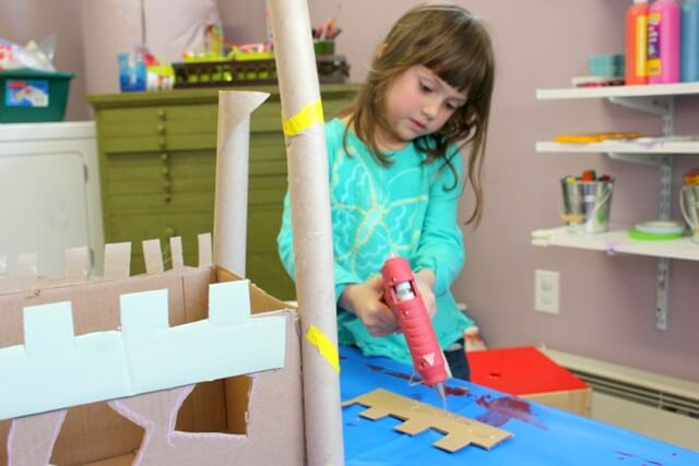 Building a Cardboard Castle with Kids
