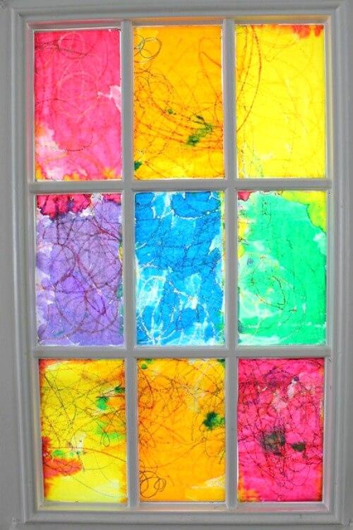 A DIY Rainbow Stained Glass Window