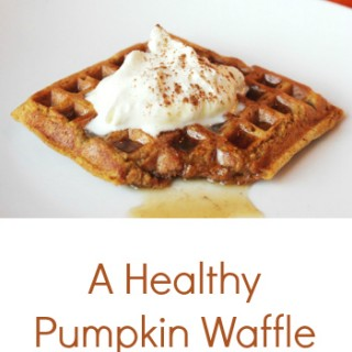 The Best Healthy Pumpkin Waffle Recipe