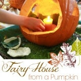 Carving a Pumpkin Fairy House