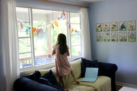 Stained Glass Bunting Decorations