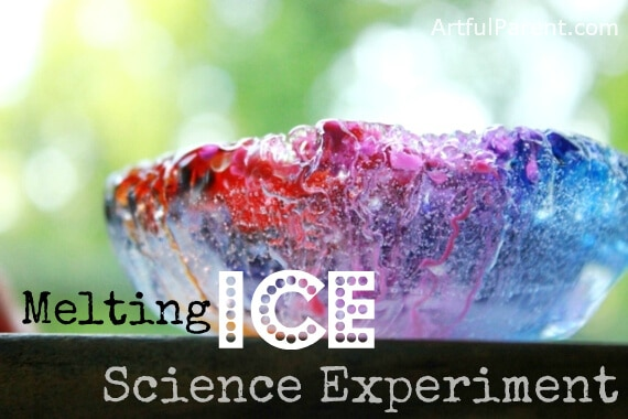 Melting Ice Science Experiment for Kids