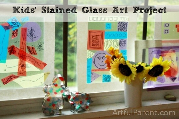 Kids Stained Glass Art Project