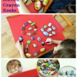Creative Play with Melted Crayon Rocks