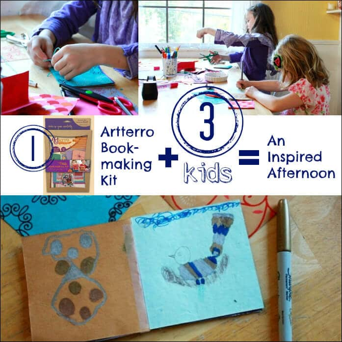 1 Artterro Bookmaking Kit + 3 Kids = An Inspired Afternoon