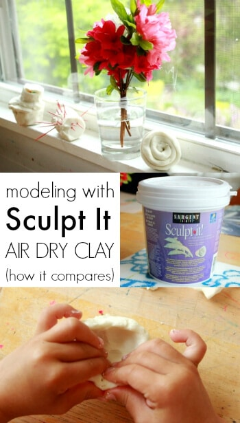 Modeling with Sculpt It Air Dry Clay - How it Compares