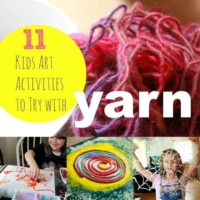 11 Kids Art Activities to Try with Yarn -- Fun!