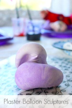 Plaster Balloon Sculptures with Kids -- So fun! You have to try this!
