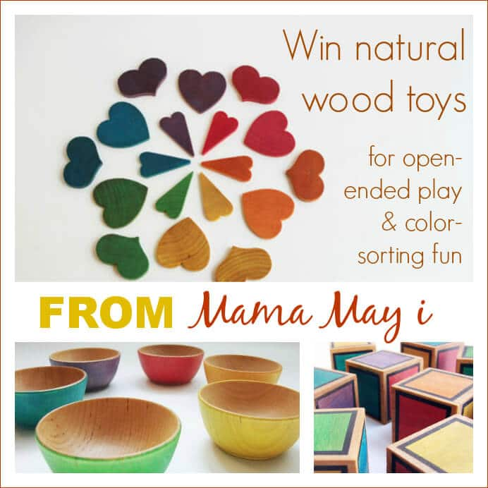Win Natural Wooden Toys for color-sorting fun and open-ended play from Mama May i
