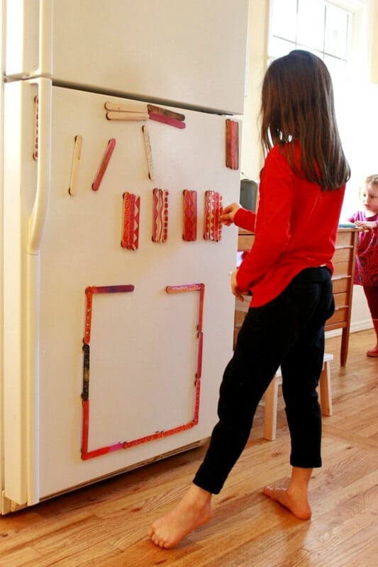 DIY Painted Magnet Sticks for Kids