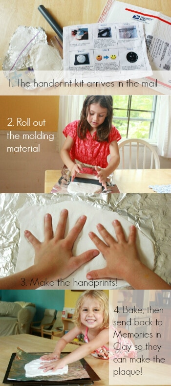 How to Use the Handprint Keepsake Kit Step by Step Photos