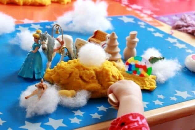 Small World Playdough Play for Kids