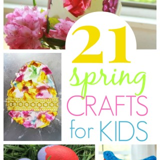21 Spring Crafts Kids will Love - Easter Crafts, Flower Crafts, Bird Crafts, and More