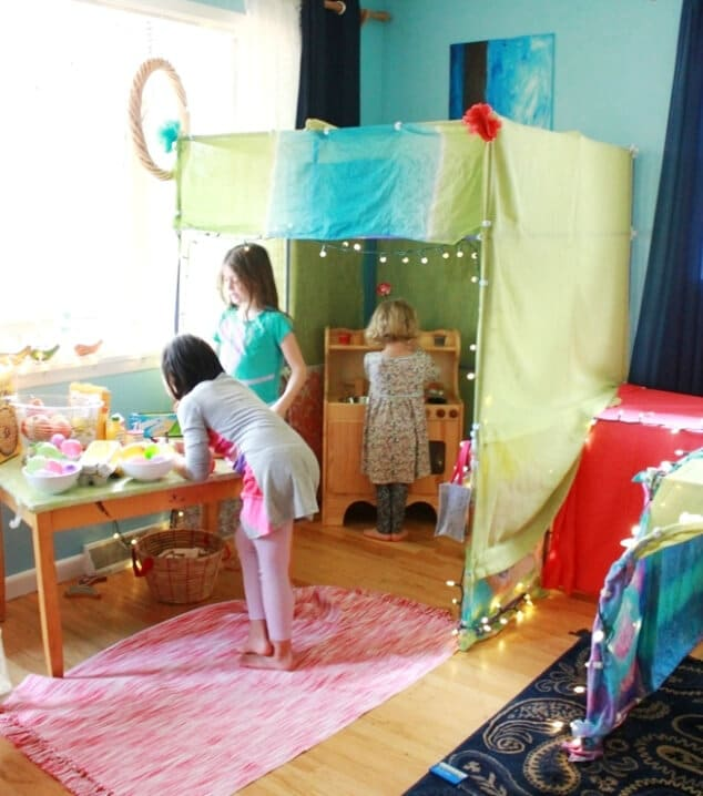A Build a Fort Kit for Kids