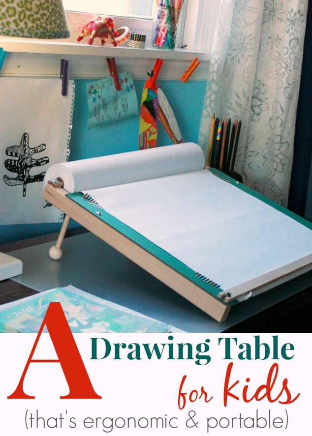 A Slanted Kids Drawing Table