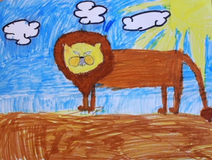 Drawing Lessons for Kids Monart Method - Maias Lion