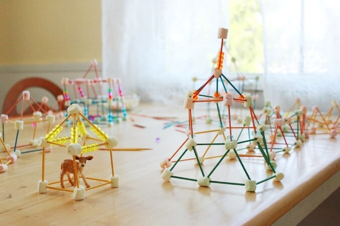 Marshmallow and Toothpick Sculptures