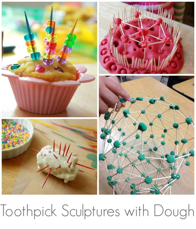 Toothpick Sculptures with Dough