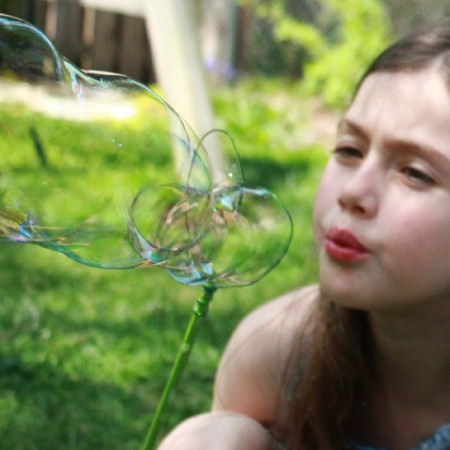 How to Make Homemade Bubbles with Kids