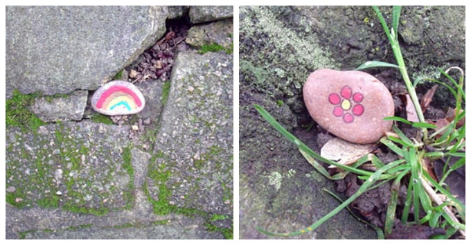 Kids Art with Rocks - Guerrilla Art