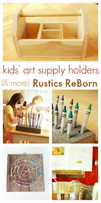 Kids Art Supply Holders and More from Rustics Reborn