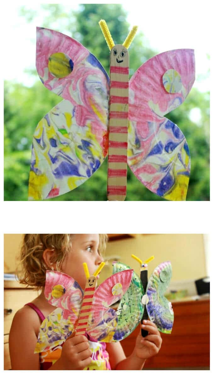 A Kids Paper Plate Butterfly Craft and Toy