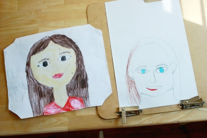 Drawing Faces for Kids - Maia's portraits
