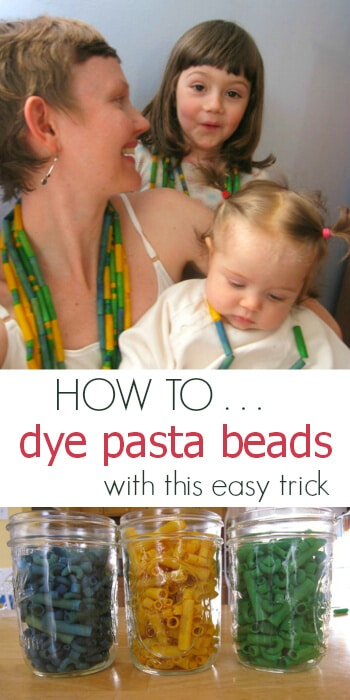 How to Dye Pasta Beads with one simple trick