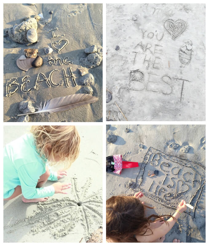 Ocean Crafts - Drawing and Writing in the Sand