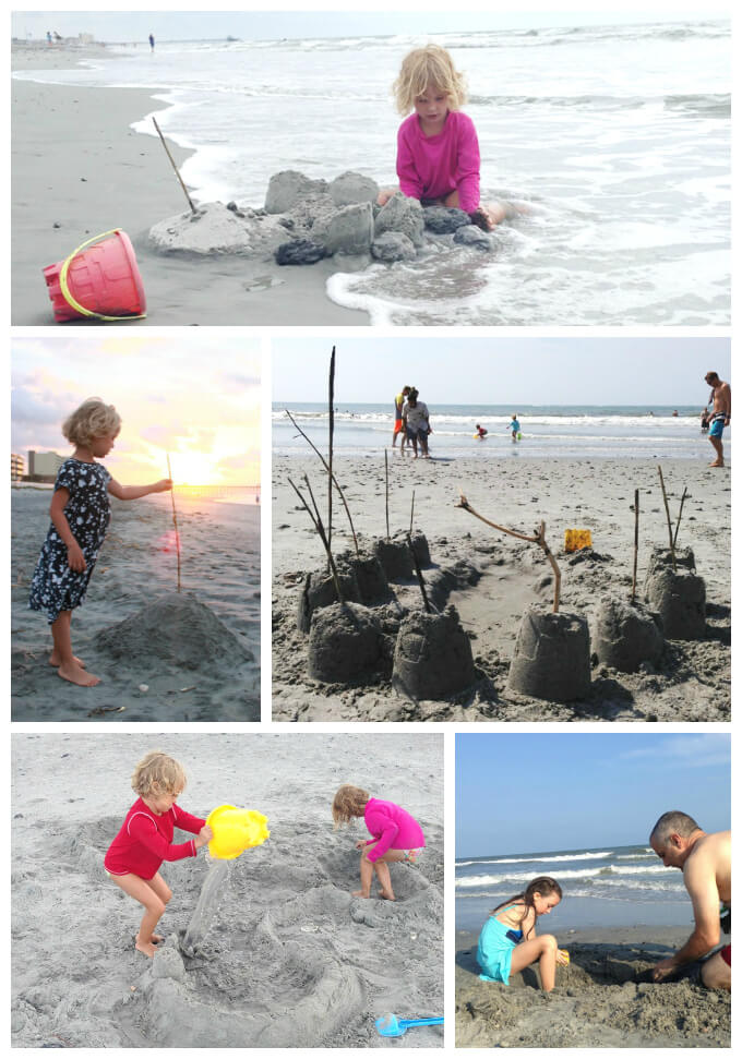 Ocean Crafts for Kids - Sandcastles and Moats