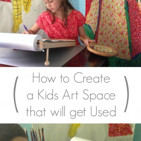 How to Create a Kids Art Space that will get Used