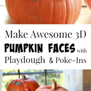 Make Awesome 3D Pumpkin Faces with Playdough and Poke-Ins