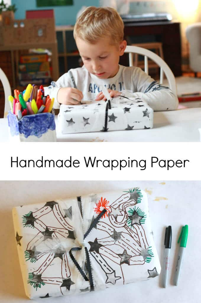 Making Handmade Wrapping Paper
