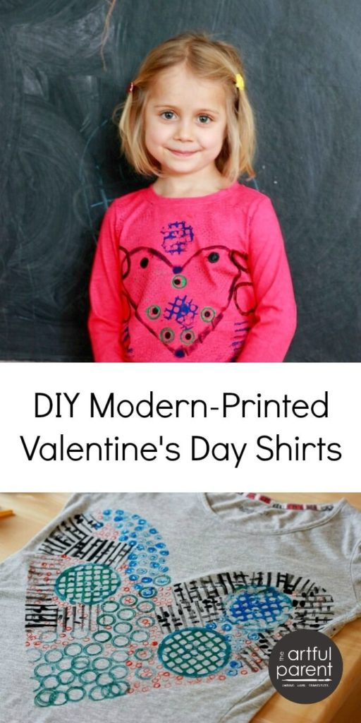 DIY Valentines Day Shirts with a Modern Twist