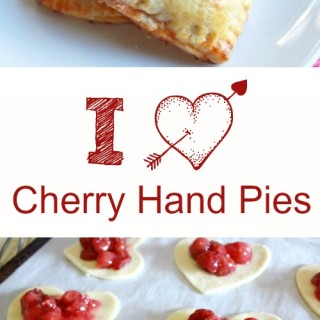 Cherry Hand Pies :: Heart Shaped for Valentines Day