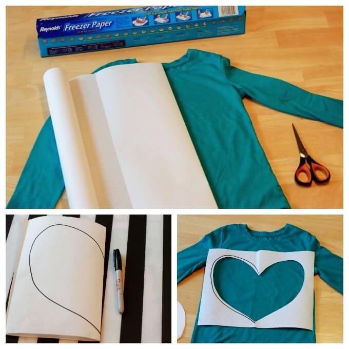 Preparing to Make Heart Printed Shirts