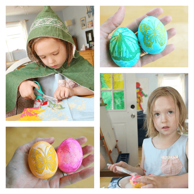 Collage Easter Eggs with Kids