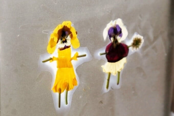 Flower Fairy Suncatcher with Contact Paper